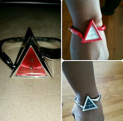 SALE! Triangle Designer Bangle Watch (5 face colors) Delta Sigma Theta Inspired