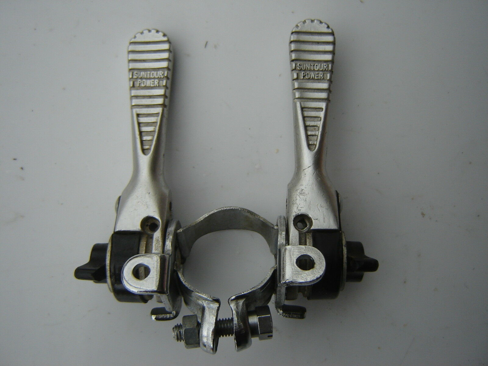 SUNTOUR LD-1500 POWER  CLAMP-ON DOWNTUBE SHIFTERS - NOS  order now with big discount & free delivery