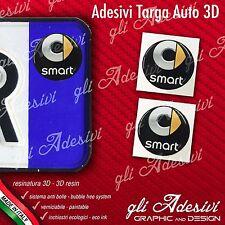 2 Adesivi Stickers bollino 3D Resinato targa Auto Moto VESPA SERVIZIO