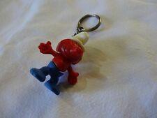 smurf key chain vintage old plastic