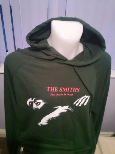 THE SMITHS GREEN 100/% LIGHT COTTON HOODIE THE QUEEN IS DEAD