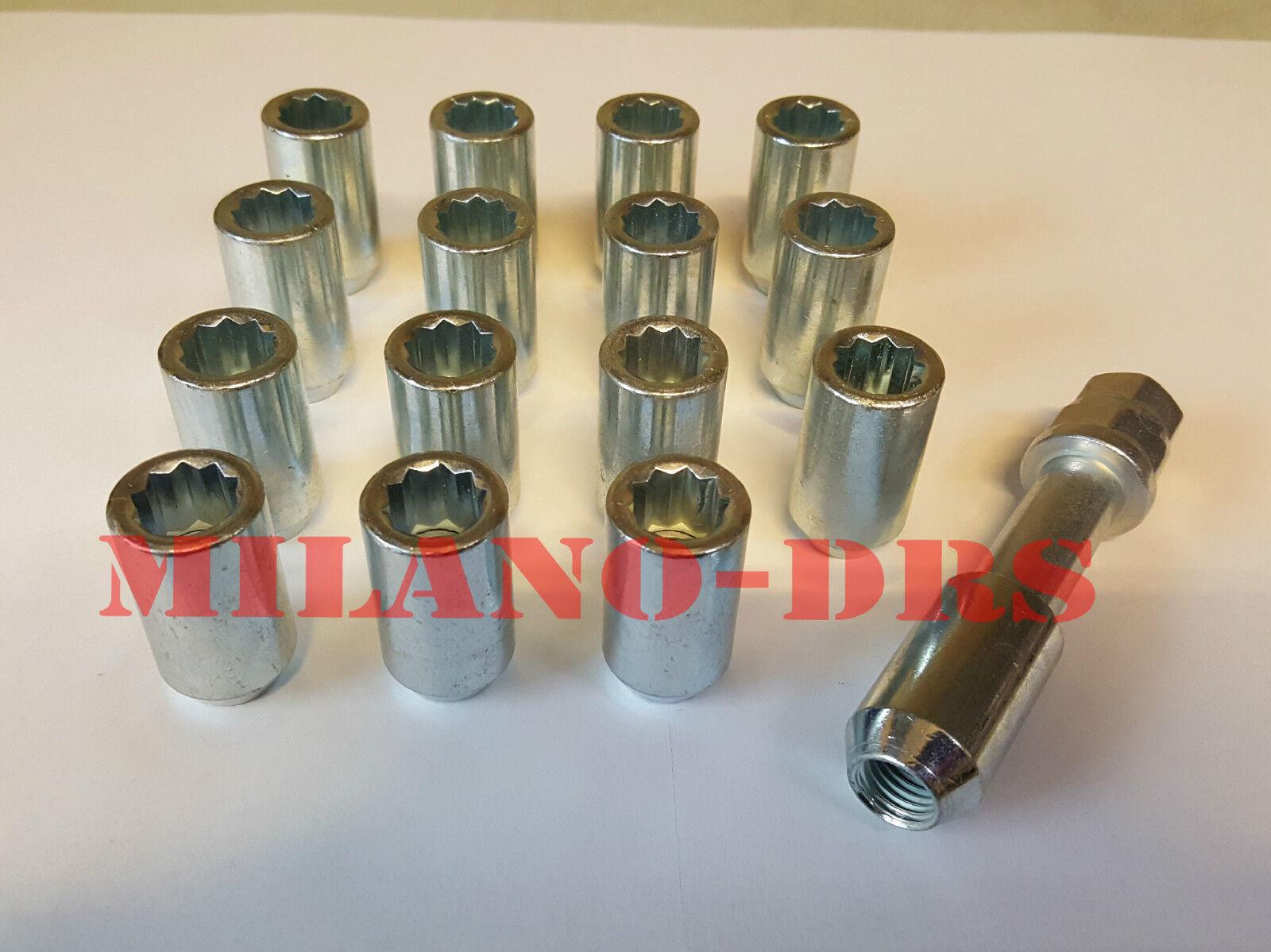 KIT 10 COLONNETTE PIANTAGGIO M12x1,25 L=67mm DIAMETRO 14,30mm Zigrino
