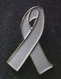Brain Cancer Asthma Diabetes Mental Gray Ribbon Pin New