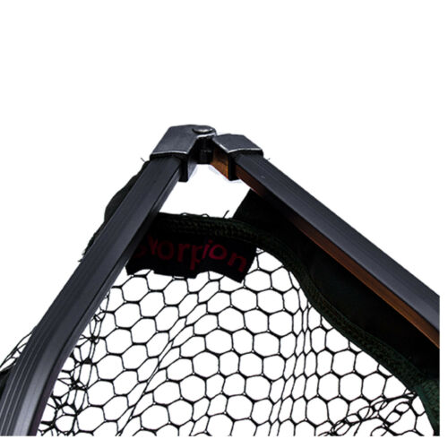 Kescher extra stabiler faltbarer Kescherkopf 220//260cm 2tlg Kescher mit Stiel