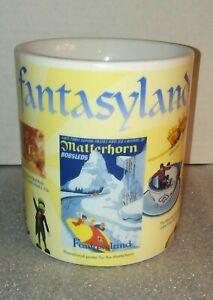 Fantasyland-Disneyland-Mug-Walt-Disney-Gallery-RARE-Coffee-Tea-Home-Office