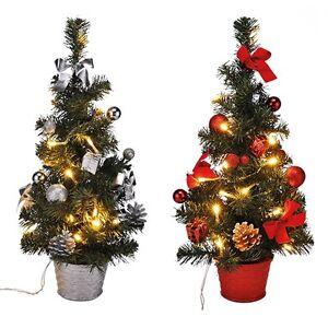 led weihnachtsbaum k nstlicher tannenbaum christbaum tanne deko beleuchtet 45 cm ebay. Black Bedroom Furniture Sets. Home Design Ideas
