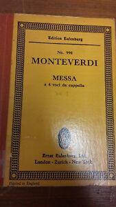 Courageux Monteverdi: Masse Pour Quatre A Cappella Voices: Poche Musique-afficher Le Titre D'origine Faire Sentir à La Facilité Et éNergique