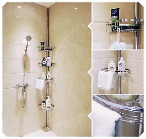 Lifewit Tension Shower Caddy 4 Tier Adjustable Bathroom Shower ...