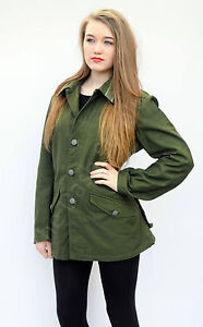 Image is loading Swedish-Army-Military-Surplus-Field-Jacket-Coat-Womens- e476af8e87