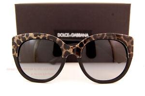 Brand New Dolce & Gabbana Sunglasses DG 4259 1995/8G Leopard Black/Gradient Grey