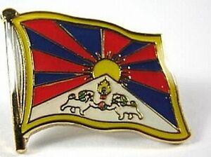 Tibet-Flaggen-Pin-Anstecker-1-5-cm-Neu-mit-Druckverschluss