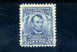 USAstamps-Unused-FVF-US-Series-1902-Lincoln-Scott-304-OG-MNH