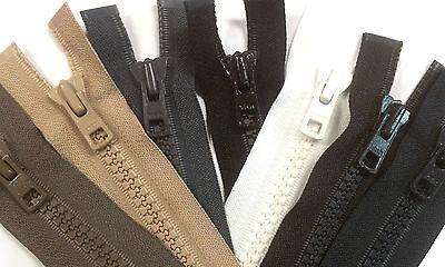 schwarz Vislon Kunststoff Motorrad Reißverschluss teilbar Extra Stark