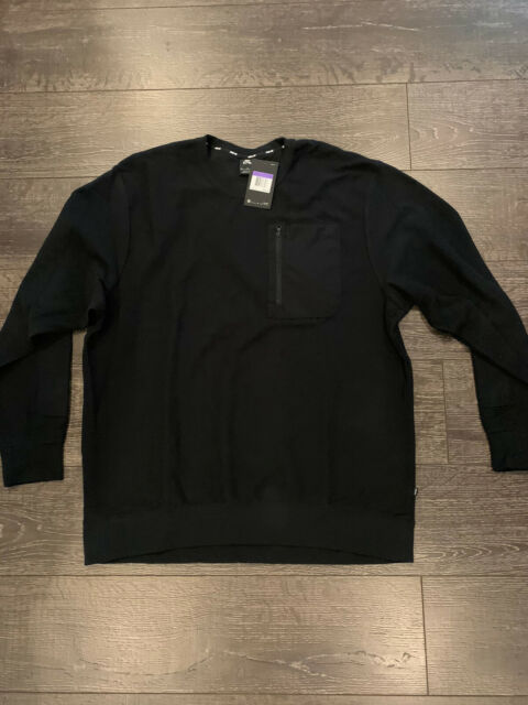 SZ 3XL RARE Nike SB Skateboard Long Sleeve T-Shirt Chest Pocket Black Mens