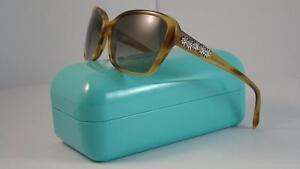 Novo Tiffany   Co Tf 4069 B 8077 3M Óculos de Sol Marrom Mel tamanho ... 84f38e5666