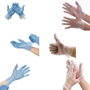 Guantes-Desechables-de-Vinilo-UK-en-polvo-y-libre-de-latex-azul-claro-fuerte-comida-medica