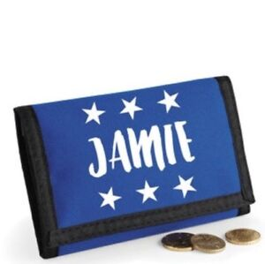 plain black Ripper Wallet Money Purse Zip Velcro Pocket Card Holder UK SELLER,