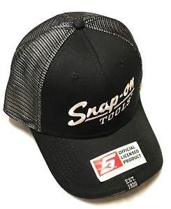 07b5038f NEW Snap On Tools Black/White Vintage Logo baseball cap Hat FREE ...