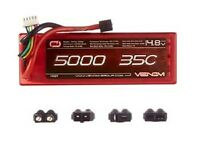 Venom 4s 14.8v Lipo 5000mah 35c Hard Univ Plug System Ven15027