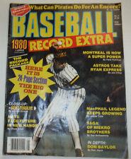 Baseball Record Extra Magazine Don Baylor & Montreal 1980 No.5 032615R