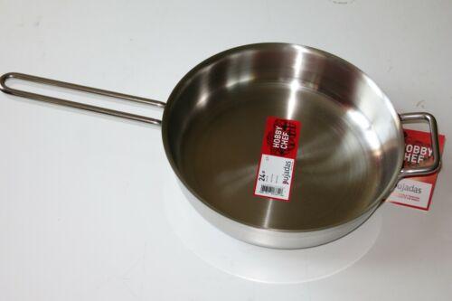 Bratpfanne Saute pan mit Durchmesser 24 cm Edelstahl auch Induktion
