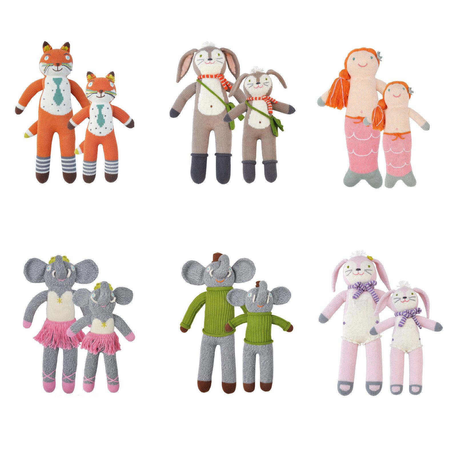Bla Bla bambini giocattolo morbido bambola fatta a mano a maglia da collezione Vintage Classic Cotone