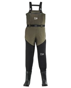 Daiwa-Hybrid-Neoprene-Chest-Waders-All-Sizes-NEW-Fishing-Breathable-Waders