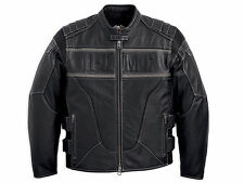 Harley Davidson Men S.W.A.T. SWAT Black Leather Jacket Reflective 2XL 97107-12VM