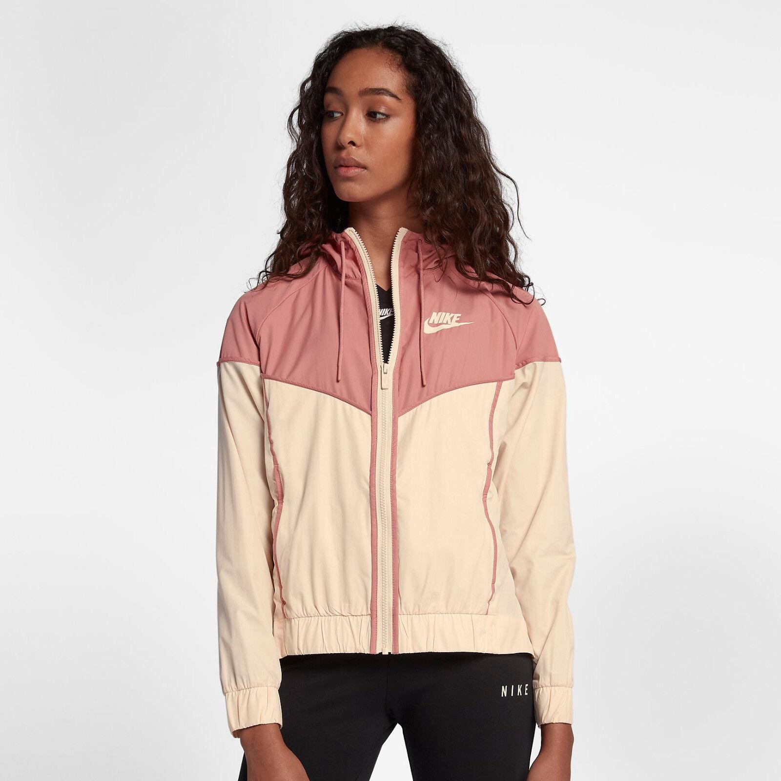 Nike Abbigliamento Sportivo Donna a Vento Giacca con Zip XS rosa Felpa Cappuccio