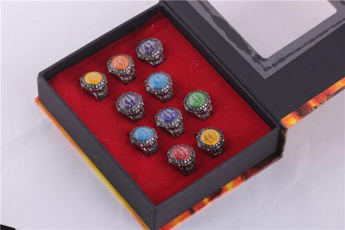 Anime Katekyo Hitman Reborn Vongola 10 PCS Rings With Box
