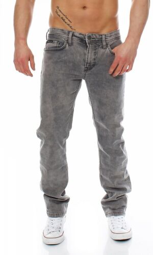 Big SEVEN-Jake-Denver WASH-Regular-Super Stretch Grigio Uomo Jeans Pantaloni