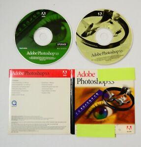 Adobe-Photoshop-5-5-UPGRADE-CD-ROM-w-serial-Macintosh-Vtg-Computer-Software