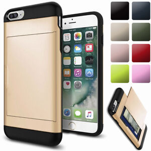 info for 1da46 88331 Details about For iPhone 8 7 6 Plus Protective Phone Case with Hidden  Credit Card Holder Cover