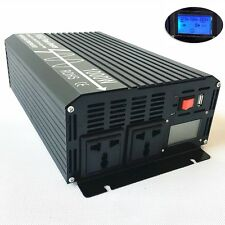 LCD Pure Sine Wave Power Inverter 1000W 12V/24V to 110V/220V with USB Off Grid