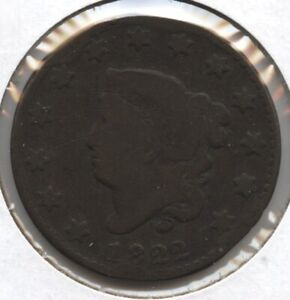1822 Coronet Head Large Cent Penny - BD403