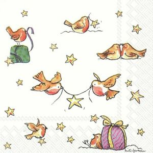 20-SERVIETTEN-NAPKINS-A-STAR-FOR-YOU-25-X-25-VOGEL-STERNE-PACKCHEN-ANITA-JERAM