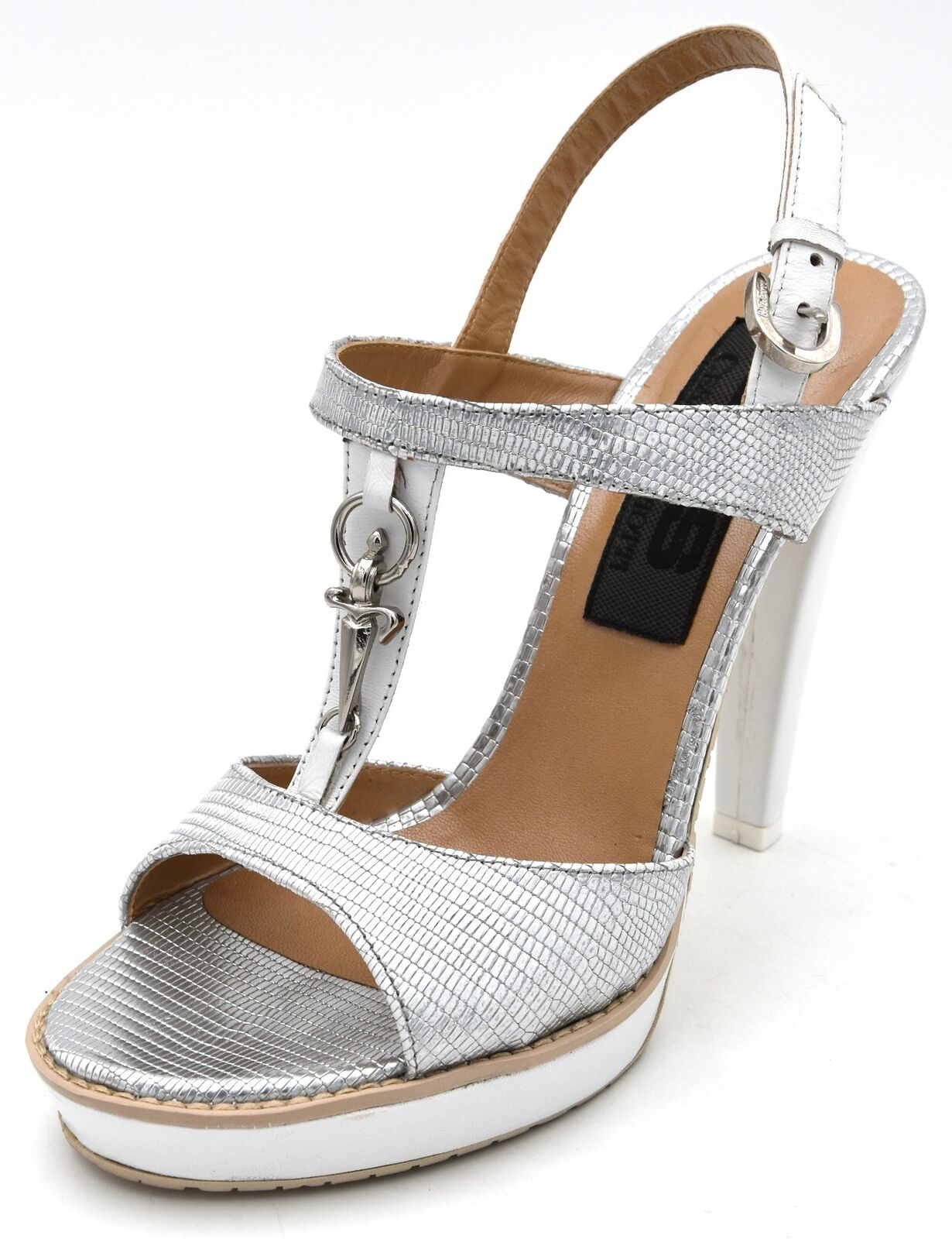 4us Cesare Paciotti Women shoes Sandal with Leather Strap Casual Art. llnd 3