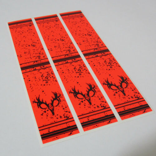 """Select your colour 15-4x1/"""" Skull Stripes on Fluoro Arrow Wraps"""