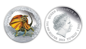 Proof Silver Coin OGP COOK ISLANDS $5 2018 Shades of Nature SUNGAZER LIZARD