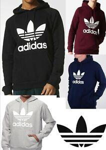 Détails sur Adidas Hommes Originals Trefoil Polaire à capuche ** (Sweat à capuche) ** OD afficher le titre d'origine