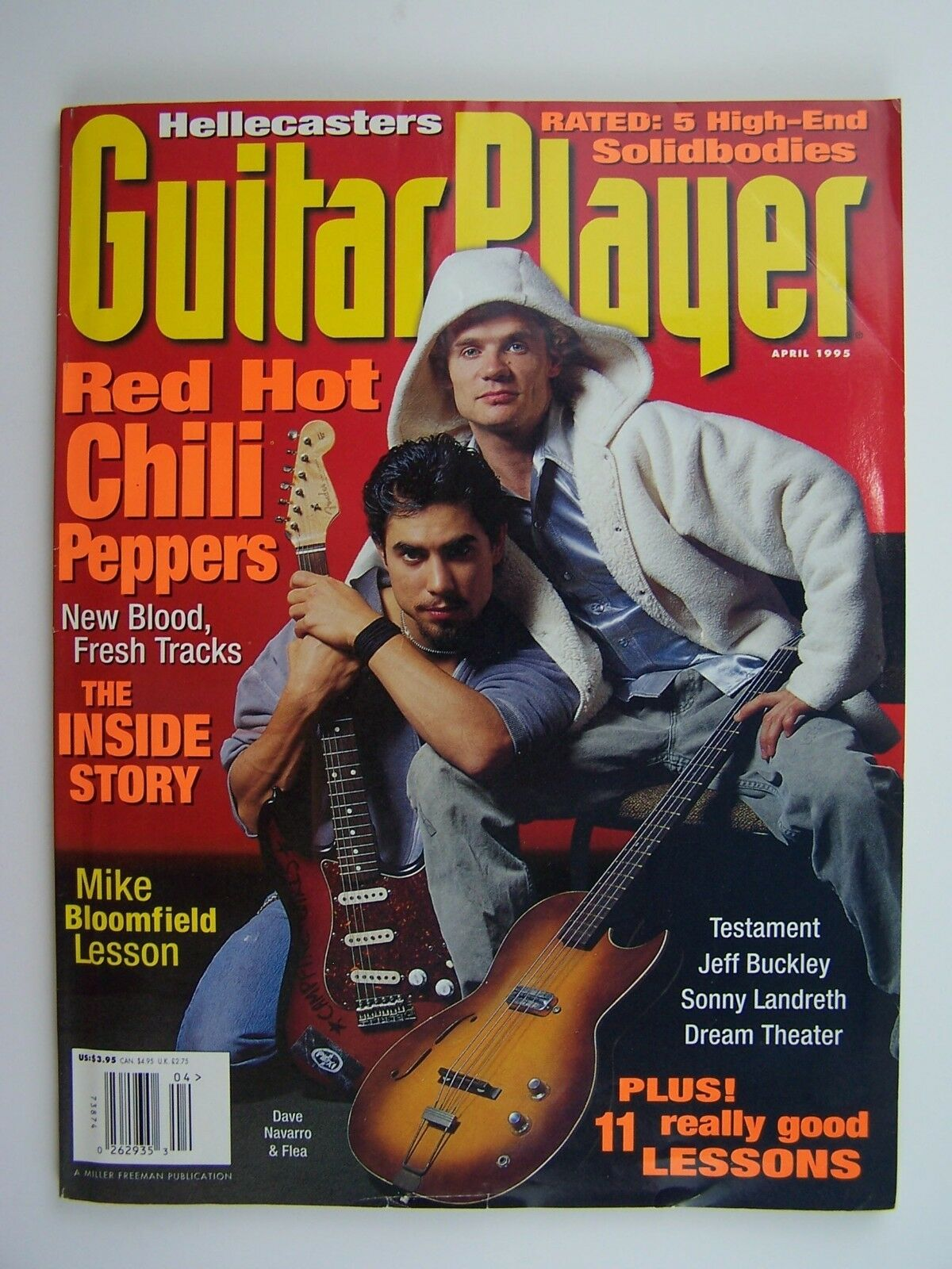 Guitar Player Magazine April 1995 Red Hot Chili Peppers