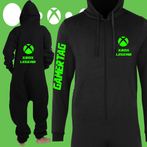 X BOX ONE ZIE PYJAMAS  ALL IN ONE JUMPSUIT Gaming clothing xbox one  PS4 PC