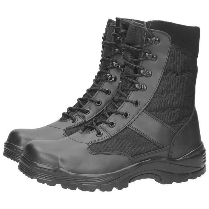 STIEFEL SECURITY MIL TEC Stahlkape Thinsulate Schwarz Schuhe