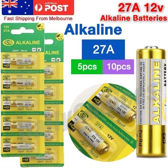 Up To 10x OZ 27A 12V MN27 LR27 A27 Alkaline Battery Garage Car Remote Alarm L828