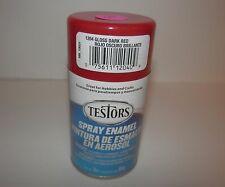 Testors 3oz Spray Paint 1204 Enamel Gloss Dark Red Ebay