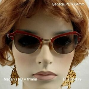"""B&L  """"Cat Eye"""" Sunshades - True Antique 12k Gold Fill Eyeglasses and Leather Cas"""