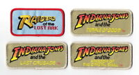 The Movies Of Indiana Jones Logos Embroidered Deluxe Patch Set Of (4)