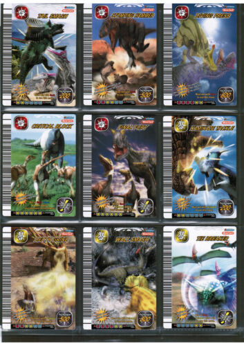 as shown DINOSAUR KING Sega 5th edition Set-of-24 MOVE CARDS #39 to #62