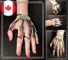 Skeleton Hand Finger Bone Bracelet Ring Gothic Punk Skull Delfina Delettrez Gaga