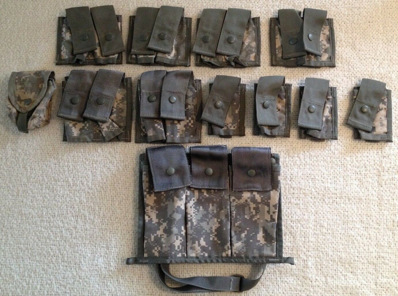 Lot of 12 Varioius MOLLE Ammo Pouches Digital Camouflage